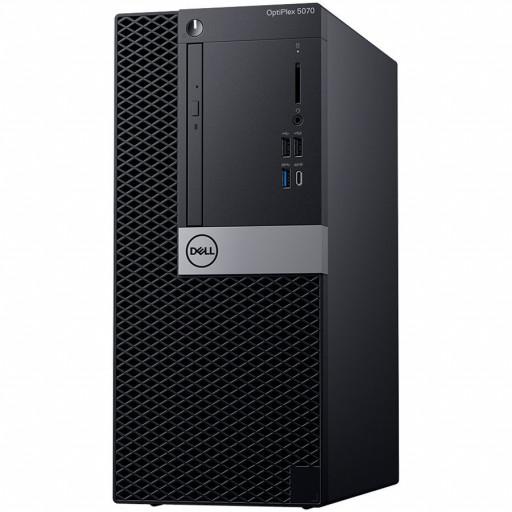Dell Optiplex 5070 MT, Intel Core i7-9700 (8 Cores/12MB/8T/3.0GHz to 4.8GHz/65W), 8GB (1x8GB) DDR4 2666MHz,256GB (M.2)PCIe NVMe, Intel Graphics 630, DVD+/-RW, Dell Mouse MS116,Dell Keyboard KB216, Ubuntu,  3Yr NBD