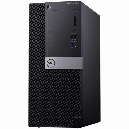 Dell Optiplex 5070 MT, Intel Core i7-9700 (8 Cores/12MB/8T/3.0GHz to 4.8GHz/65W), 16GB (1x16GB) DDR4 2666MHz,256GB (M.2)PCIe NVMe, Intel Graphics 630, DVD+/-RW, Dell Mouse - MS116, Dell Keyboard KB216,Ubuntu 3Yr NBD