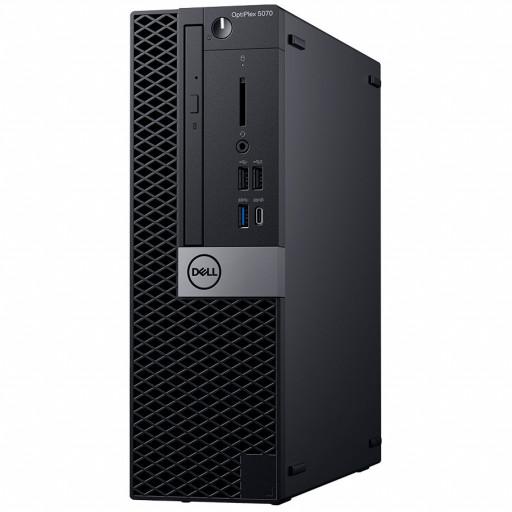 Dell OptiPlex 5070 SFF, Intel Core i7-9700 (8 Cores/12MB/8T/3.0GHz to 4.8GHz/65W), 8GB(1X8GB)DDR4 2666MHz,256GB (M.2)PCIe NVMe, Intel Graphics 630, DVD+/-RW, Mouse MS116, Keybd KB216 ,Windows 10 Pro (64bit) 3Yr NBD