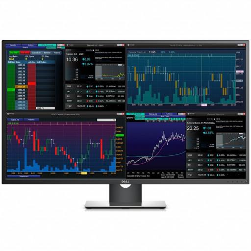 Monitor DELL Professional P4317Q 42.5'' Multi-Client, 3840 x 2160, UHD 4K, IPS Antiglare, 16:9, 1000:1, 350cd/m2, 8ms, 178/178, DP, Mini DP, 2x HDMI