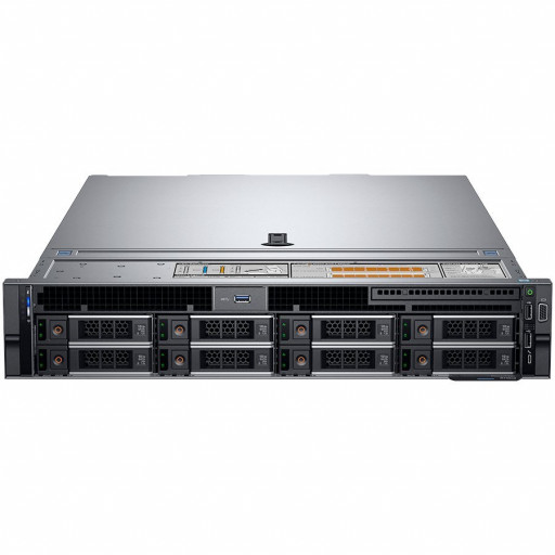 "Dell PowerEdge R740 Rack Server,Intel Xeon Silver 4110 2.1G(8C/16T),16GB(1x16GB)RDIMM-2666MT/s,2x600GB 10K RPM SAS(up to 8 x 3.5""HDD for 1CPU), PERC H730P, iDRAC9 Enterprise, Dual Hot-plug PS (1+1) 750W, 5720 Quad Port 1GbE, Rails, 3Yr ProSupport"