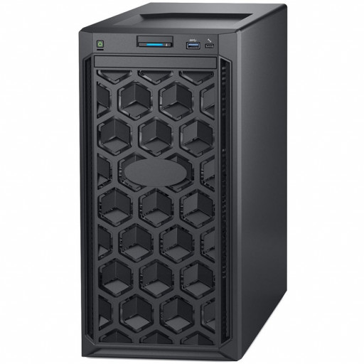 Dell PowerEdge T140 Tower Server,Intel Xeon E-2224 3.4GHz(4C/4T),16GB(1x16)UDIMM 2666MT/s,2x4TB 7.2K RPM SATA(3.5 Chassis up to 4 Cabled HDD),PERC H330,DVD+/-RW,iDrac9 Basic,3Yr NBD