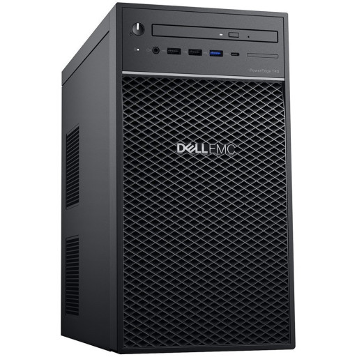 """Dell PowerEdge T40 Tower Server,Intel Xeon E-2224G 3.5GHz(4C/4T),8GB 2666MT/s DDR4 ECC UDIMM,1TB 7.2K RPM SATA 6Gbps Entry 3.5in Cabled Hard Drive(3.5"""" Chassis up to 3 HDD),DVD +/-RW,No Operating System,3Yr NBD"""