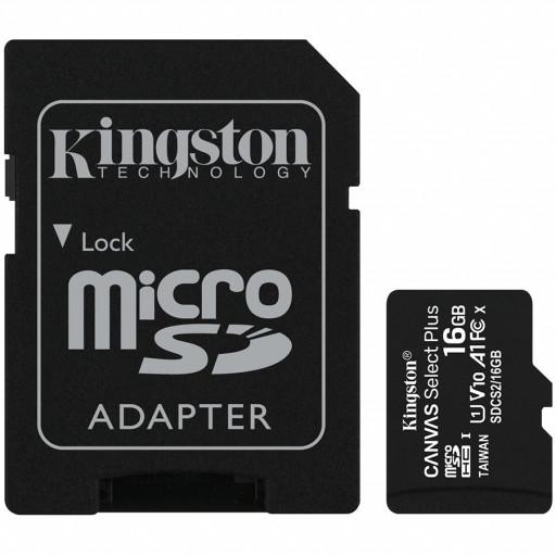 Kingston 16GB micSDHC Canvas Select Plus 100R A1 C10 Card + ADP EAN: 740617297300