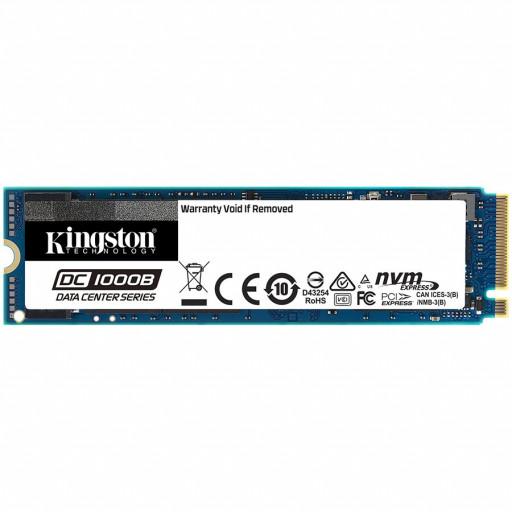 KINGSTON DC1000B 240GB Enterprise SSD, M.2 2280, PCIe NVMe Gen3 x4, Read/Write: 2200 / 290 MB/s, Random Read/Write IOPS 111K/12K
