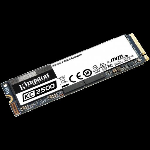 Kingston 1000GB KC2500 M.2 2280 NVMe SSD, up to 3500/2900MB/s, EAN: 740617307184
