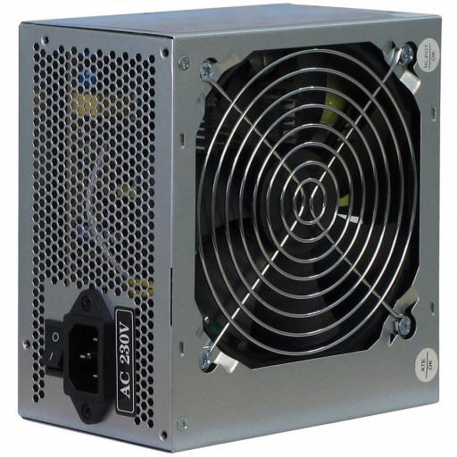 Power Supply Unit Inter-Tech SL-500C 500W PSU, single rail (30A), 80 mm silent fan, 2 x SATA, 2 x Molex, 1 x Floppy, SCP/OCP/OVP, Passive PFC, bulk + power cord
