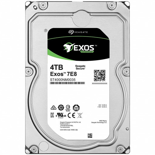 SEAGATE HDD Server Exos 7E8 512E/4kn (3.5'/4TB/SATA 6GB/s/7200rpm)