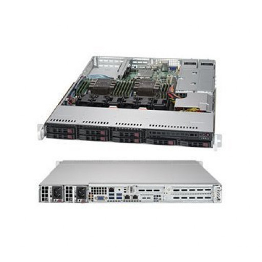Supermicro SuperServer SYS-1029P-WTR, 1U, 8 Hot-swap 2.5'' drive bays w/ 2 Xeon Scalable support, C621 chipset, 12 x DIMMs, 750W PS (redundant, Platinum), 2x 1GbE, IPMI 2.0 + KVM with Dedicated LAN, https://www.supermicro.com/products/system/1U/1029/SYS-1
