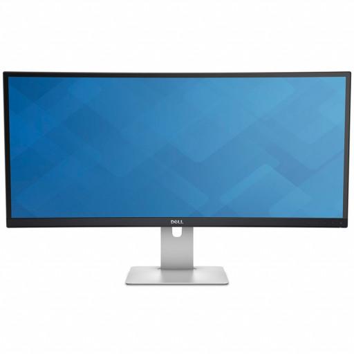 """Monitor LED DELL UltraSharp U3415W 34"""" Curved, 3440x1440, 21:9, AH-IPS, 1000:1, 178/172, 6ms, 300cd/m2, VESA, DisplayPort, Mini DisplayPort, HDMI, USB HUB, Height Adjustable, Pivot, Speakers, Black"""