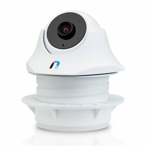 Ubiquiti UVC-Dome (IniFi Video Camera) INDOOR (720p HD, 30 FPS, night vision, POE (adapter included), buit-in microphone, Wall, Ceiling, or Pole Mount, free powerful NVR software), Single