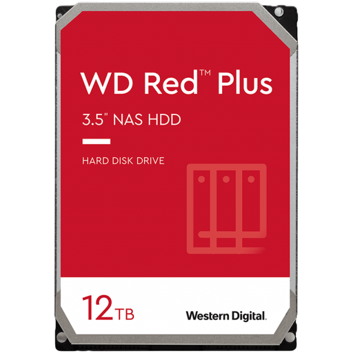 HDD NAS WD Red Plus (3.5'', 12TB, 256MB, 7200 RPM, SATA 6 Gb/s)