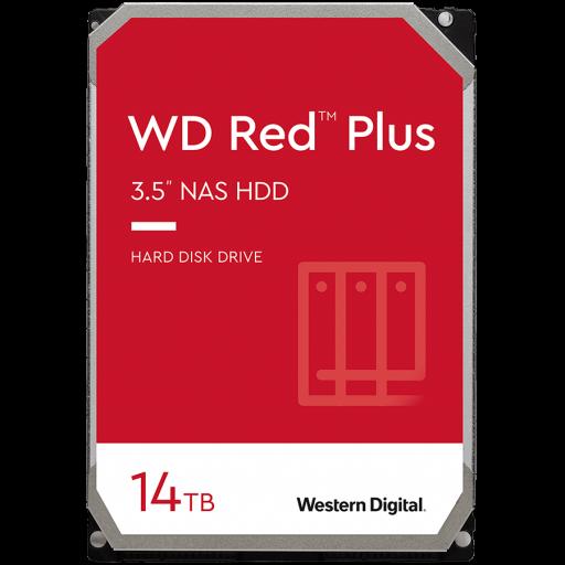 HDD NAS WD Red Plus (3.5'', 14TB, 512MB, 7200 RPM, SATA 6 Gb/s)