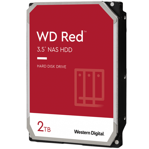 HDD NAS WD Red Plus (3.5'', 2TB, 128MB, 5400 RPM, SATA 6 Gb/s)