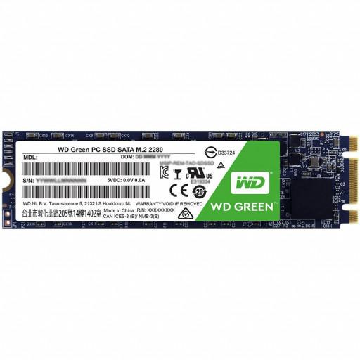SSD WD Green (M.2, 120GB, SATA III 6 Gb/s)