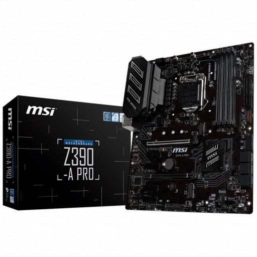 MSI Main Board Desktop Z390-A PRO (LGA1151,4DDR4, 2PCI-Ex16, 4PCI-Ex1,1M.2, 6SATA3, 2USB3.1 GEN2 ,6USB3.1) retail