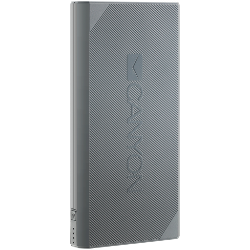 CANYON Power bank 20000mAh Li-ion battery, with Smart IC, Input 5V/2A, Outpput 5V/2.4A, cable length 0.24m, 161*81*22mm, 0.48kg, Dark Gray