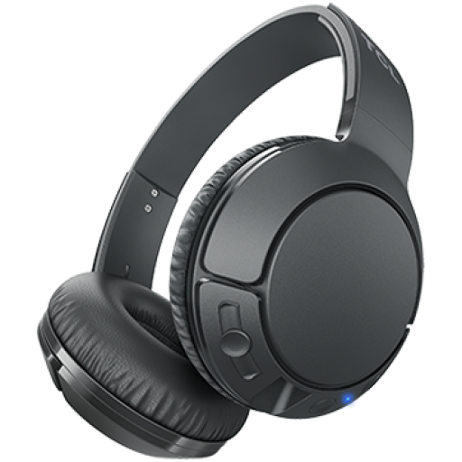 TCL On-Ear Bluetooth Headset, Strong BASS, flat fold, Frequency: 10-22K, Sensitivity: 102 dB, Driver Size: 32mm, Impedence: 32 Ohm, Acoustic system: closed, Max power input: 30mW, Connectivity type: Bluetooth only (BT 4.2), Color Shadow Black
