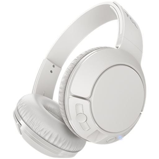 TCL On-Ear Bluetooth Headset, Strong BASS, flat fold, Frequency: 10-22K, Sensitivity: 102 dB, Driver Size: 32mm, Impedence: 32 Ohm, Acoustic system: closed, Max power input: 30mW, Connectivity type: Bluetooth only (BT 4.2), Color Ash White