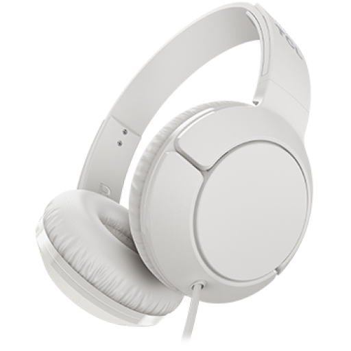 TCL On-Ear Wired Headset, Strong BASS, flat fold, Frequency of response: 10-22K, Sensitivity: 102 dB, Driver Size: 32mm, Impedence: 32 Ohm, Acoustic system: closed, Max power input: 30mW, Connectivity type: 3.5mm jack, Color Ash White
