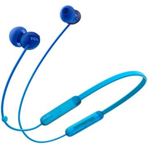 TCL Neckband (in-ear) Bluetooth Headset, Frequency of response: 10-23K, Sensitivity: 104 dB, Driver Size: 8.6mm, Impedence: 28 Ohm, Acoustic system: closed, Max power input: 25mW, Connectivity type: Bluetooth only (BT 5.0), Color Ocean Blue