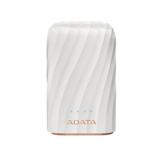 Baterie externa A-Data AP10050C-USBC-CWH, 10050 mAh - White
