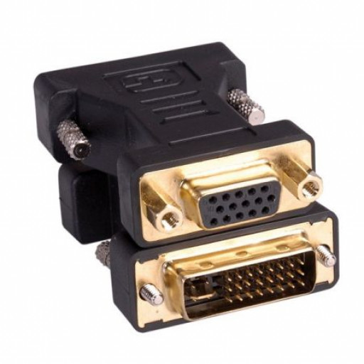 Adaptor DVI-I - VGA T/M, Roline 12.03.3105CR - Black