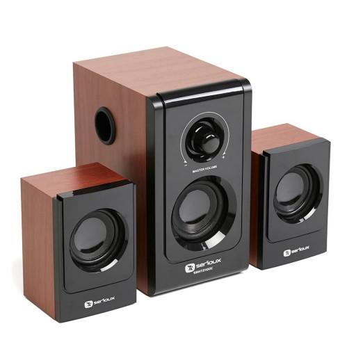 Boxe 2.1 Serioux SoundBoost SB-HT2100C, 16W, Cherry Wood