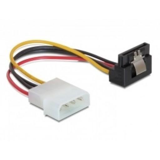 Cablu alimentare Molex - SATA angled cu fixare Delock 60121 - 15cm
