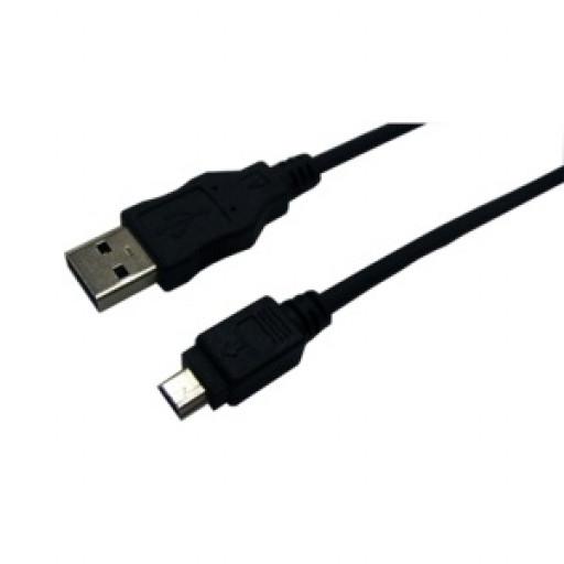 Cablu date USB A 2.0 la mini USB 5 pin T/T Logilink CU0014 - 1.8 m