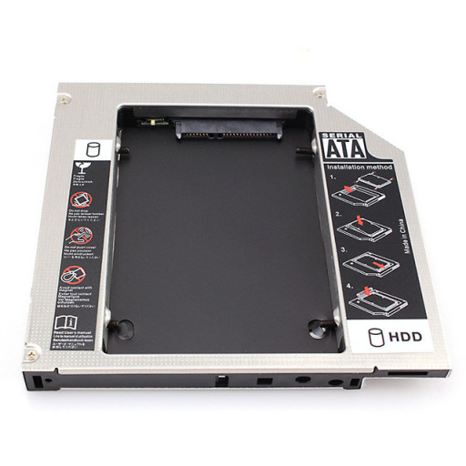 Caddy laptop SATA de 12.7 mm