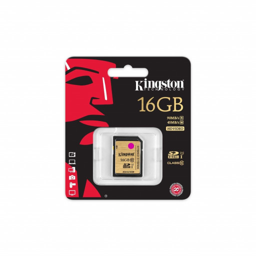 Card memorie Kingston SDHC 16 GB Clasa 10 UHS-I