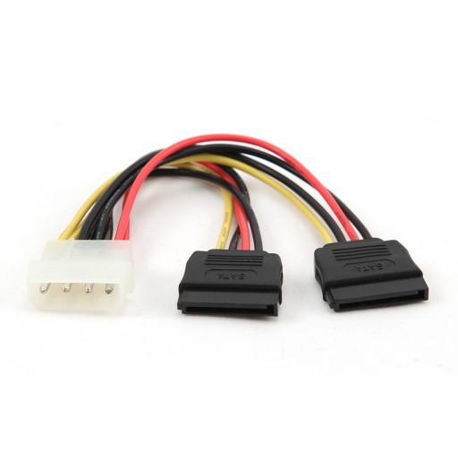 Cablu alimentare Molex - 2x SATA, Cablexpert CC-SATA-PSY-0.3M - 30 cm
