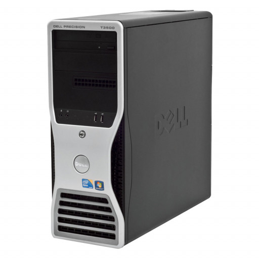 Dell Precision T3500 Intel Xeon X5650 2.66 GHz, 8 GB DDR 3 ECC, 500 GB HDD, DVD-RW, 1 GB GeForce 605, Tower, Windows 10 Pro MAR