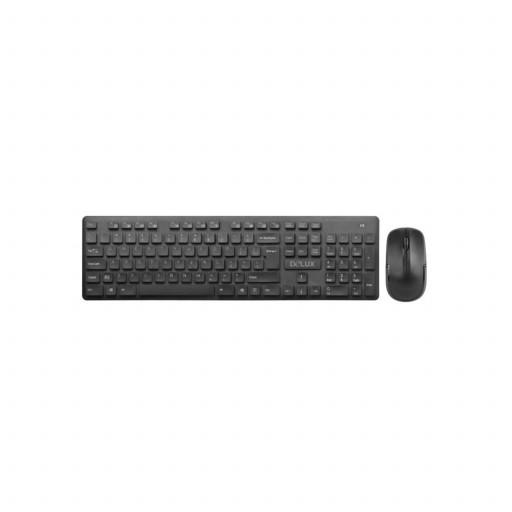 Kit tastatura si mouse wireless Delux KA150 + M136