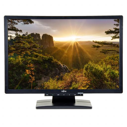 Fujitsu E22W-6, 22 inch LED, 1680 x 1050, 16:10, negru - argintiu