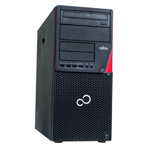 Fujitsu Esprimo P756, Core i7-6700T pana la 3.60GHz, 8GB DDR4, 256GB SSD, Tower, Windows 10 Home MAR, calculator refurbished
