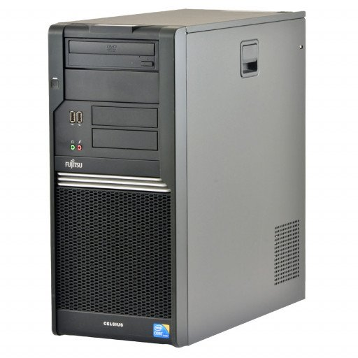 Fujitsu Celsius W380 Intel Core i5-650 3.20 GHz, 8 GB DDR 3, 256 GB SSD, DVD-RW, Tower