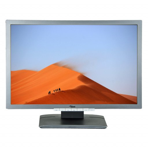 Fujitsu P24W-6, 24 inch IPS LED, 1920 x 1200 Full HD, 16:10, displayport, negru - argintiu