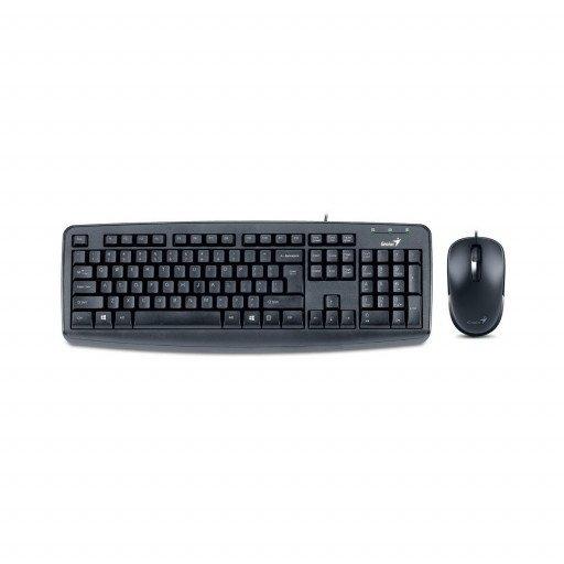 Kit tastatura si mouse Genius KM-130, USB - Black