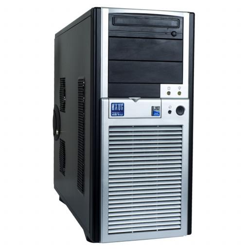 Haug C3844 Intel C2Q Q9550 2.83 GHz, 4 GB DDR 2, 500 GB HDD, DVD-ROM, 1 GB GeForce 605, Tower, WIndows 10 Pro MAR