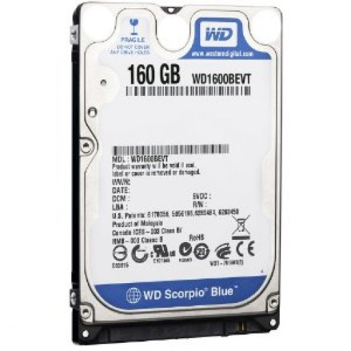 "HDD notebook 160GB S-ATA Western Digital 2.5"" - reconditionat"