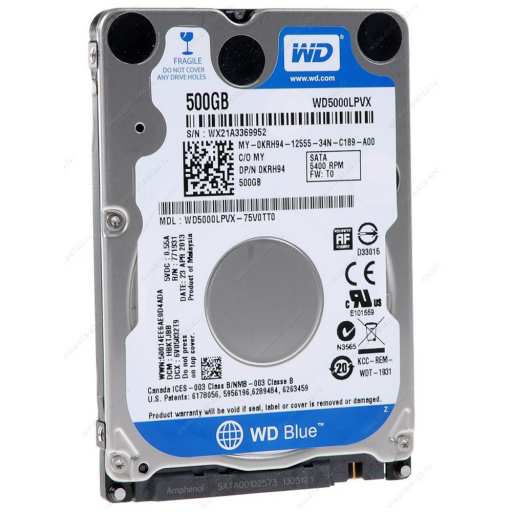 HDD notebook 500 GB S-ATA Western Digital Blue 2.5""