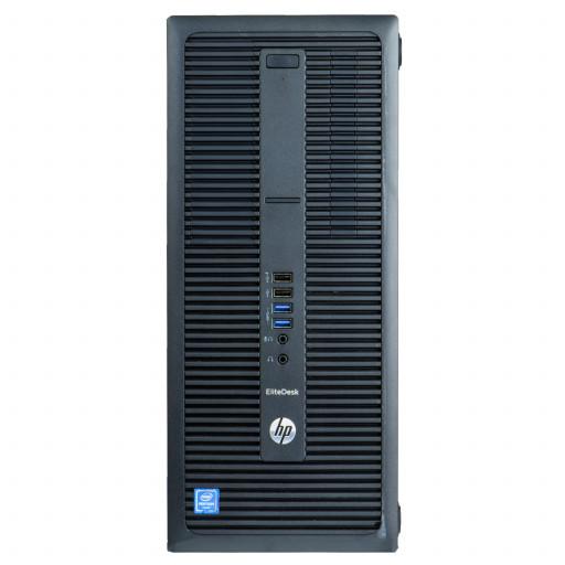 HP EliteDesk 800 G2, Core i5-6500 pana la 3.60GHz, 8GB DDR4, 256GB SSD, DVD, Tower, calculator refurbished