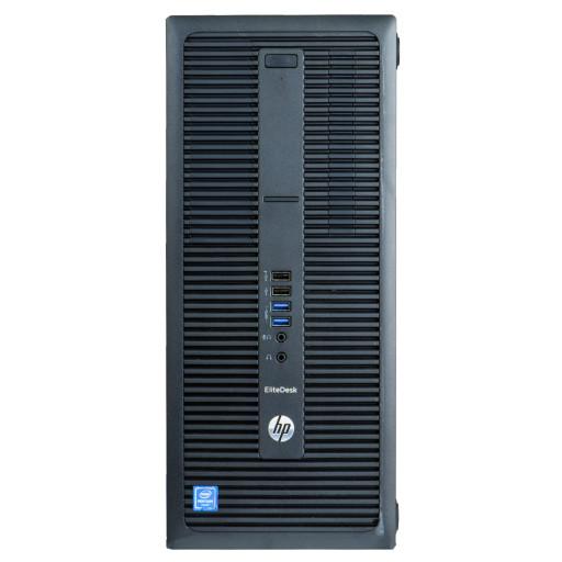 HP EliteDesk 800 G2, Core i3-6100 3.70GHz, 8GB DDR4, 256GB SSD, DVD, Tower, calculator refurbished