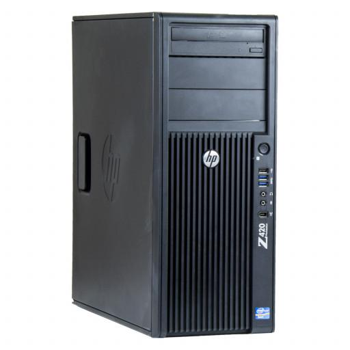 HP Z420, Xeon E5-2660 v2 pana la 3.00GHz, 64GB DDR3 REG, 480GB SSD, DVD, 1GB FirePro V4800, Tower, Windows 10 Pro MAR, workstation refurbished