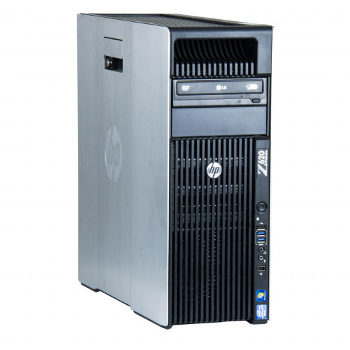 HP Z620 2 x Intel Xeon E5-2620 2.00 GHz, 16 GB DDR 3 ECC, 256 GB SSD, DVD-ROM, 2 GB Quadro K2000, Tower