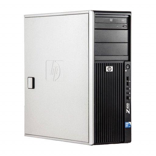 HP Z400 Intel Xeon E5506 2.13 GHz, 4 GB DDR 3 ECC, 500 GB HDD, DVD-ROM, 1 GB GeForce 605, Tower, Windows 10 Pro MAR