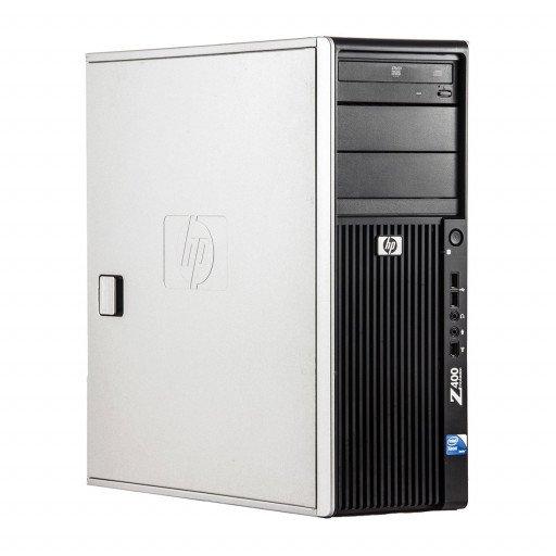 HP Z400 Intel Xeon E5620 2.40 GHz, 8 GB DDR 3 ECC, 500 GB HDD, DVD-RW, 1 GB Geforce 605, Tower, Windows 10 Pro MAR