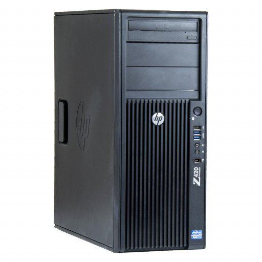 HP Z420 Intel Xeon E5-1603 2.80 GHz, 16 GB DDR 3 REG, 240 GB SSD, DVD-RW, 8 GB Radeon RX 470, Tower